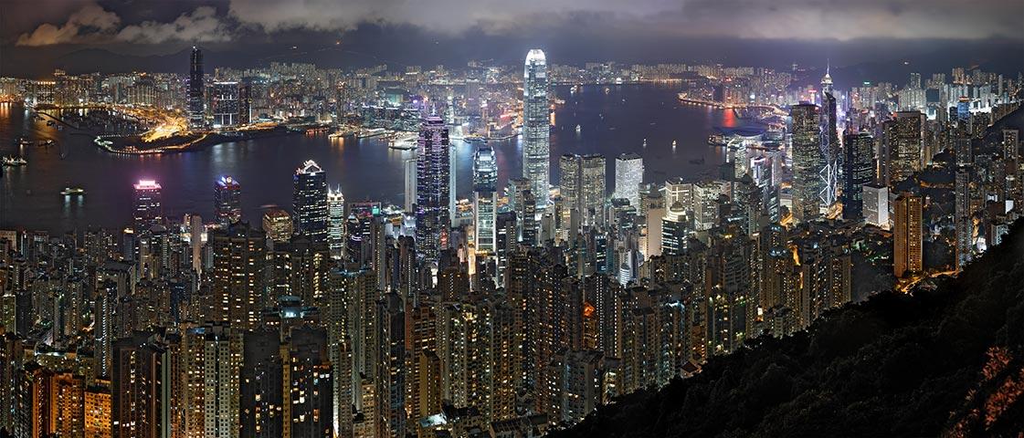 Pic Victoria - Vue panoramique sur Hong Kong