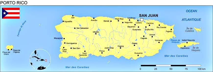 Porto Rico - Carte