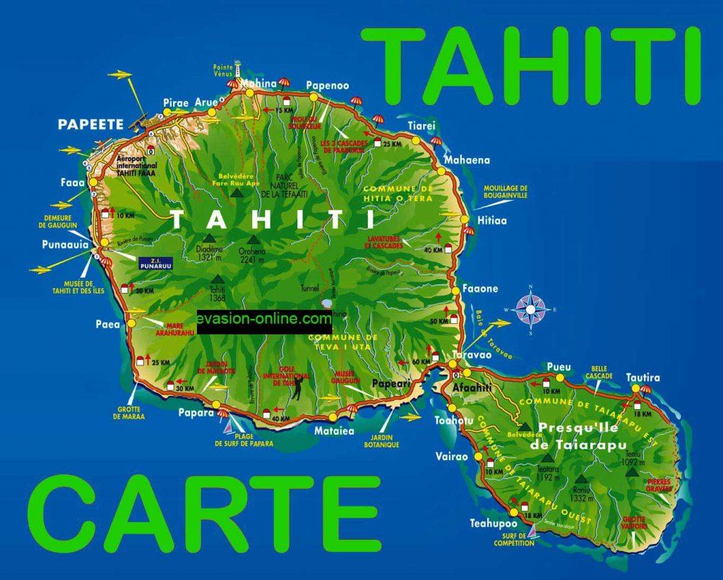 Tahiti - Carte