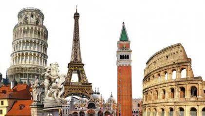Europe touristique en été