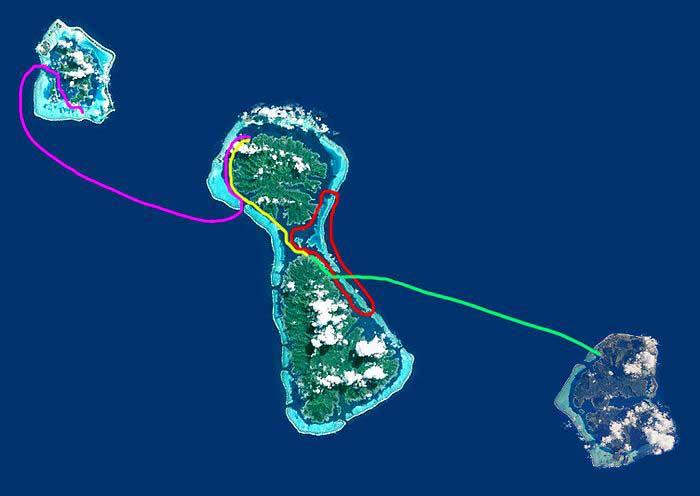 Hawaiki nui va'a étapes de la course