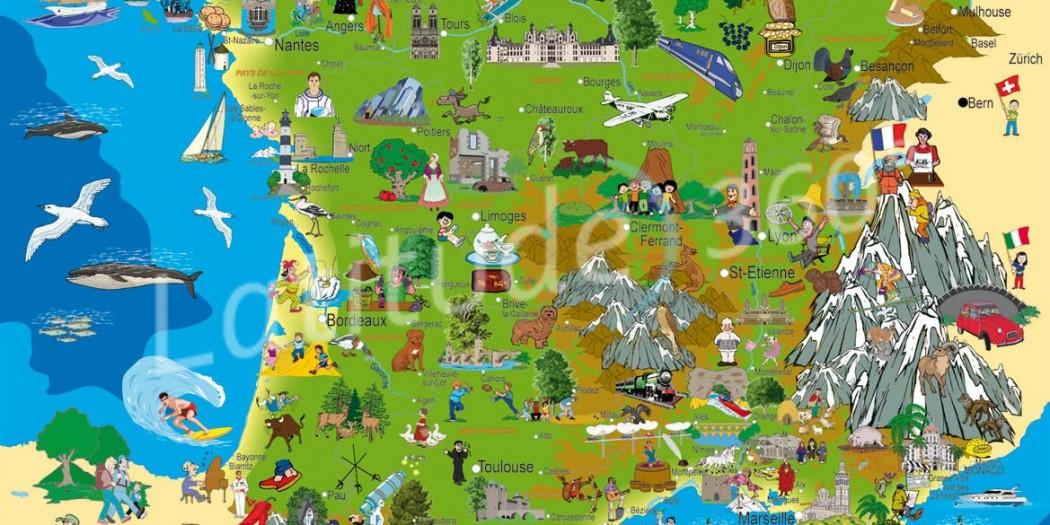 Carte touristique de France » Vacances - Arts- Guides Voyages