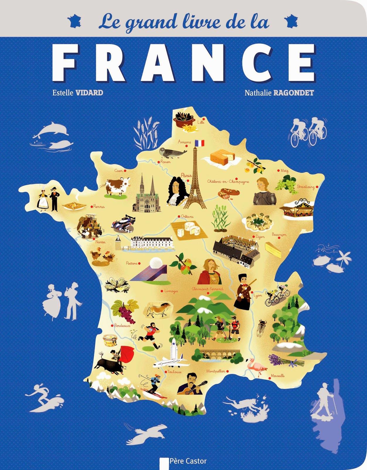 Carte touristique de france vacances arts guides voyages for Site touristique france