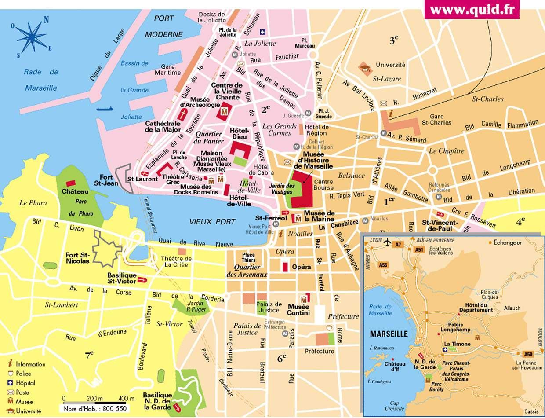 carte de Marseille