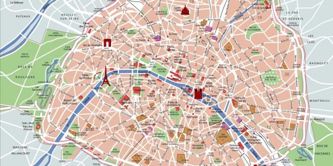 Carte monuments de Paris