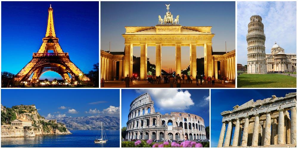 Europe - Séjour en été