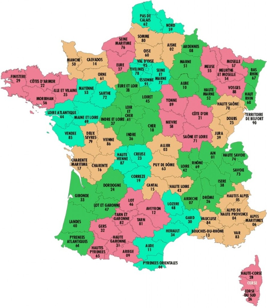 France départements