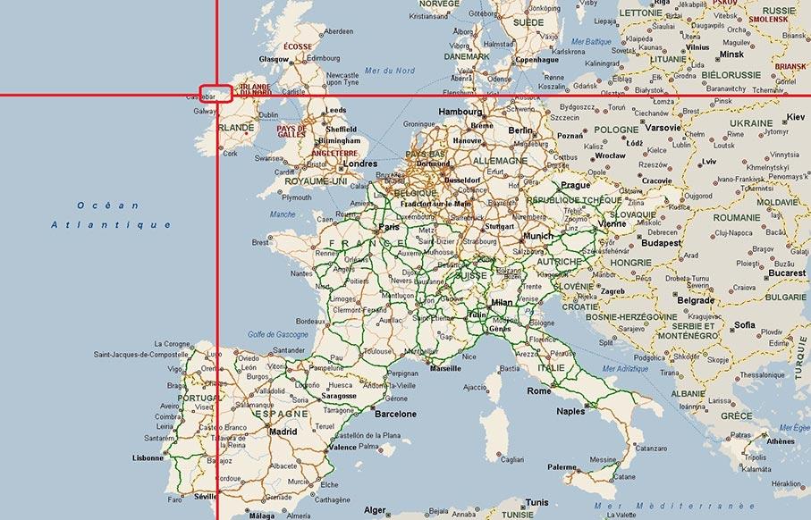 Irlande - Carte du monde