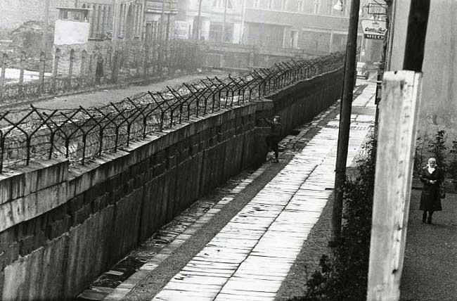 Le mur de Berlin avant 1989
