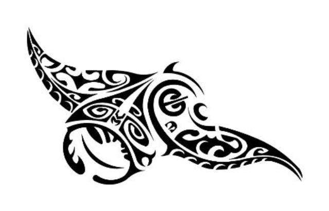 Raie Manta - Tatouage polynésien