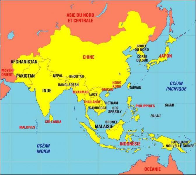 Asie du sud est - pays