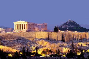 Athènes - photo de nuit