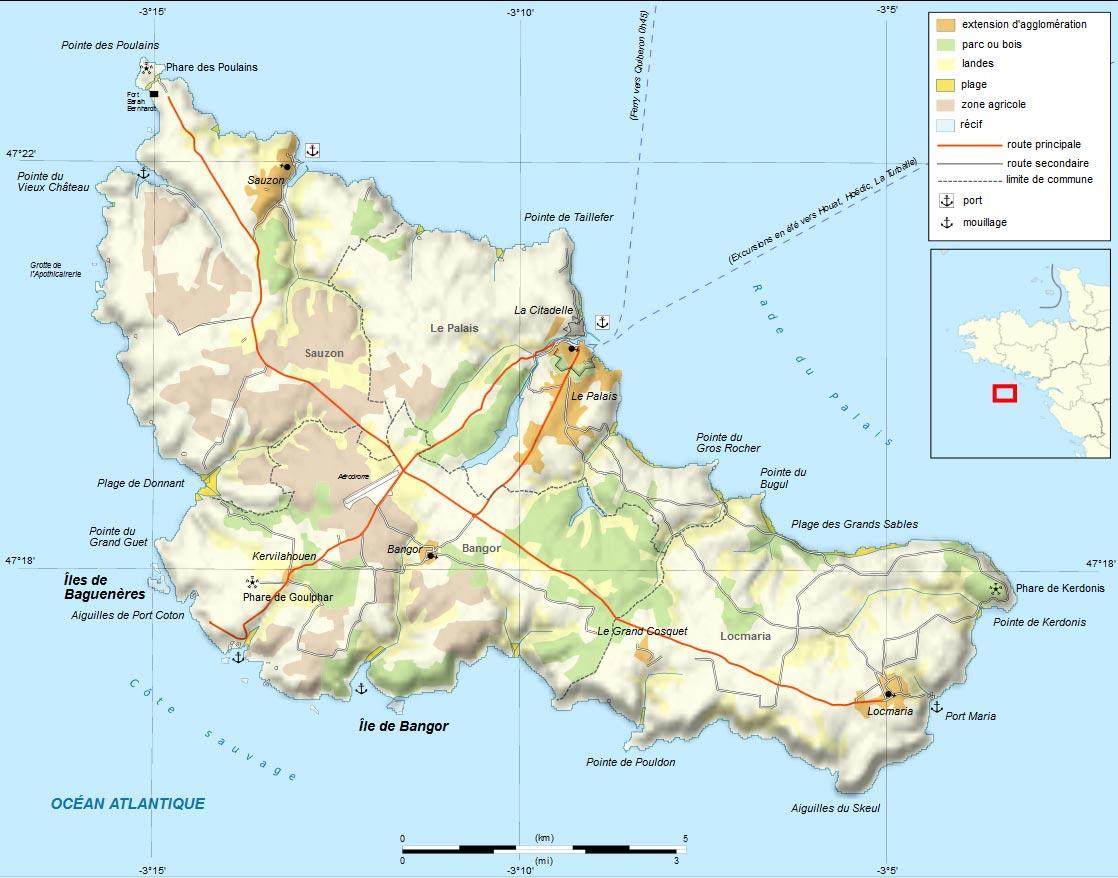 Carte - Belle île en mer