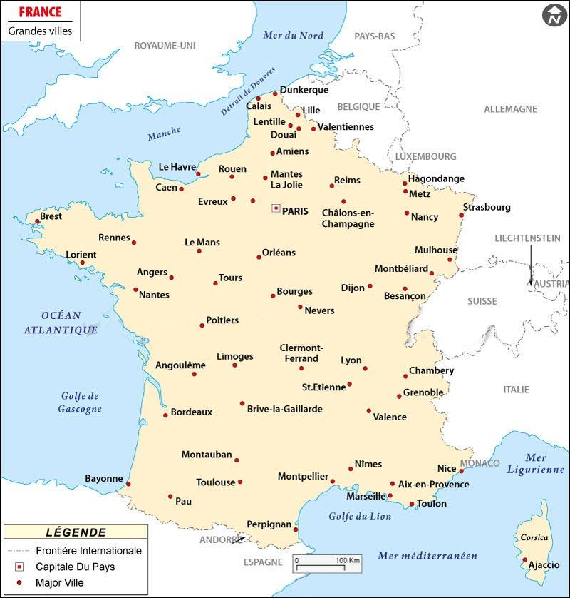 carte grandes villes de france ville de france   slubne suknie.info