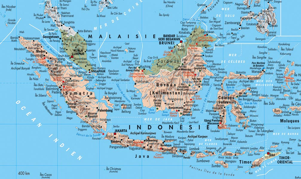 Carte Géographique Indonésie   tonaartsenfotografie