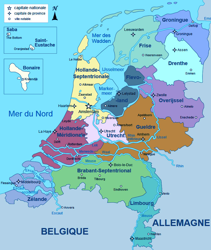 Carte des Pays Bas