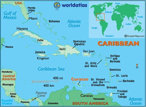 carte curacao antilles - Photo