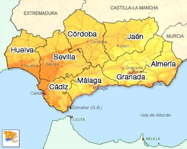 Andalousie carte