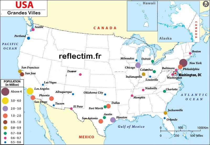 Carte Usa Villes Route