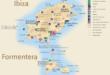 Carte touristique de Ibiza