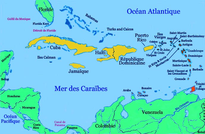 Antilles - Carte