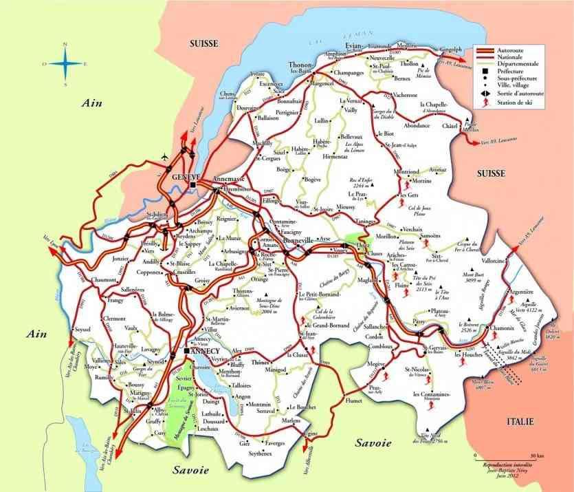 Annecy - Carte Haute Savoie