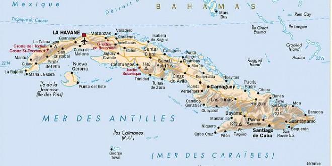 Carte Cuba Monde.Carte De Cuba Dans Le Monde Vacances Arts Guides Voyages