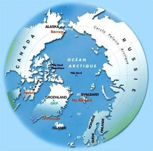 arctique carte