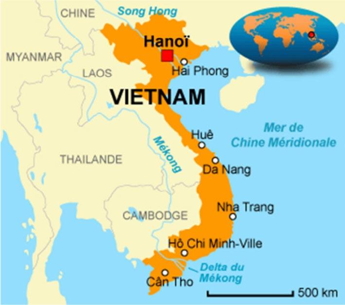 Carte du Viêt Nam