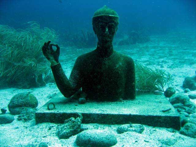 cousteau - Photo sous marine de la réserve en Guadeloupe