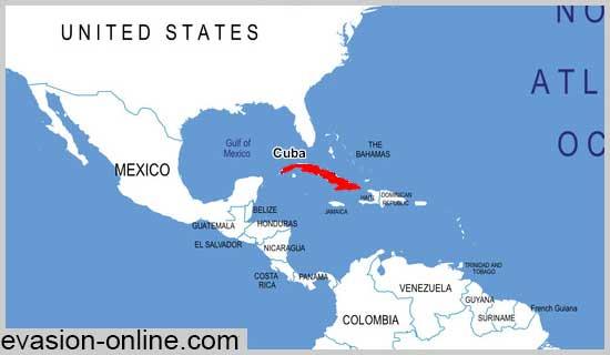 Carte Cuba Monde.Cuba Carte Geographique Vacances Arts Guides Voyages