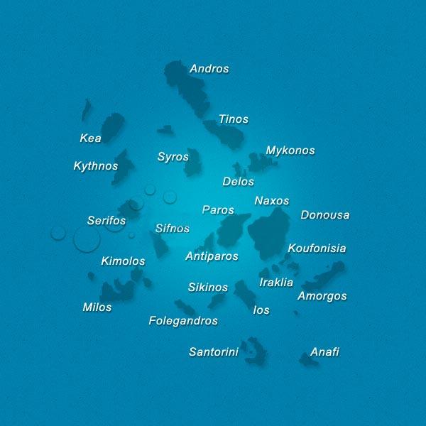 Cyclades - carte