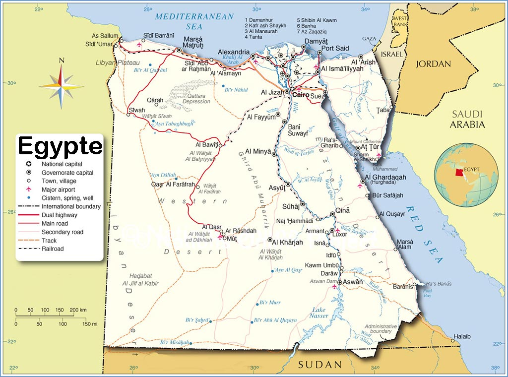 Egypte - Carte