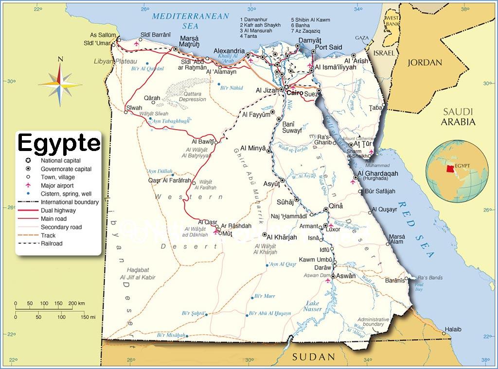 Egypte - Carte