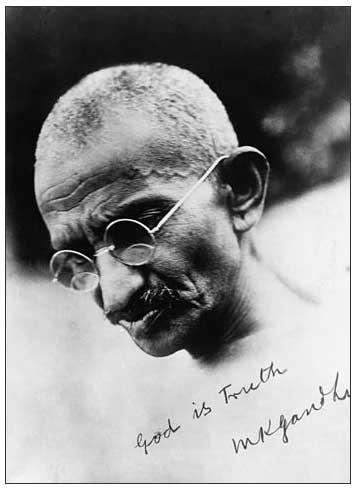 Portrait de Gandhi