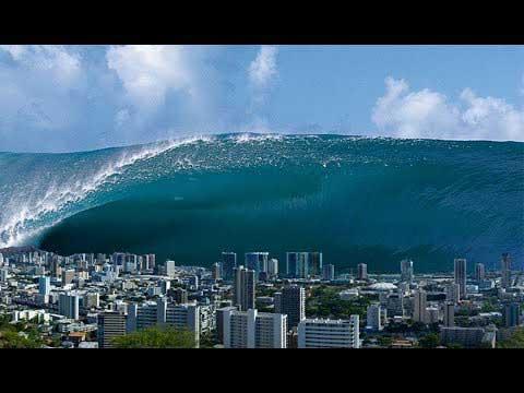 Vague d'un tsunami