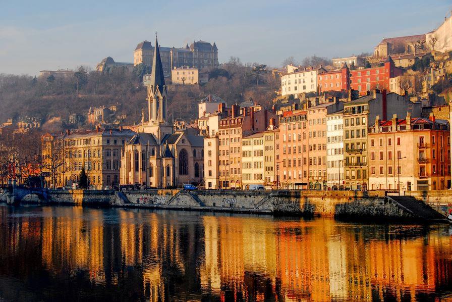 Lyon - Quai de Saone - Paysage