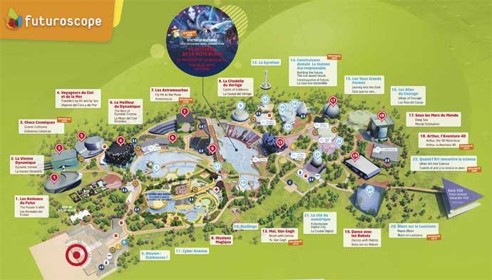 Plan du Parc Futuroscope