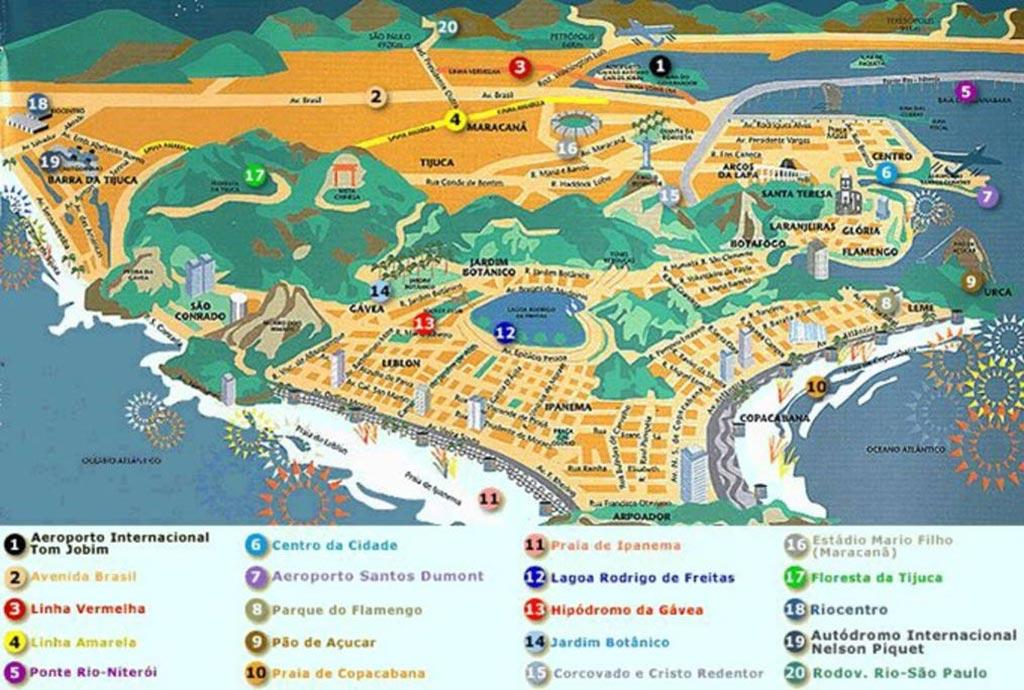 Carte de Rio de Janeiro