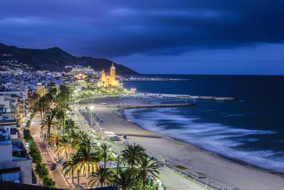 Photo de nuit de Sitges
