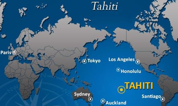 Tahiti - Carte du monde