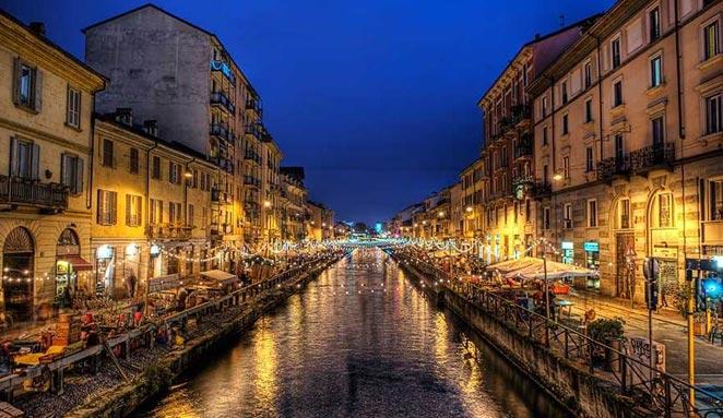 Ville de Milan - Photo de nuit