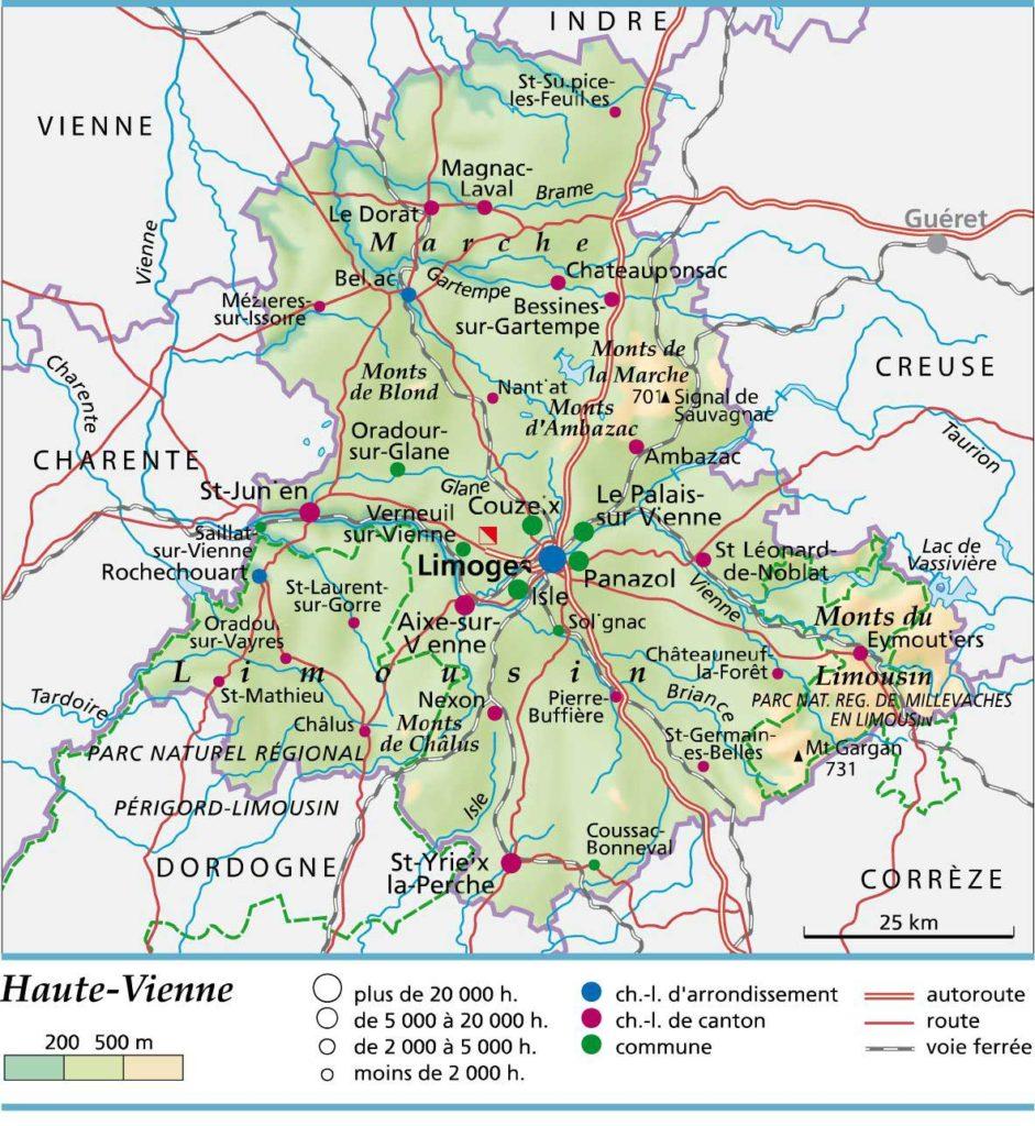Carte-Haute-Vienne