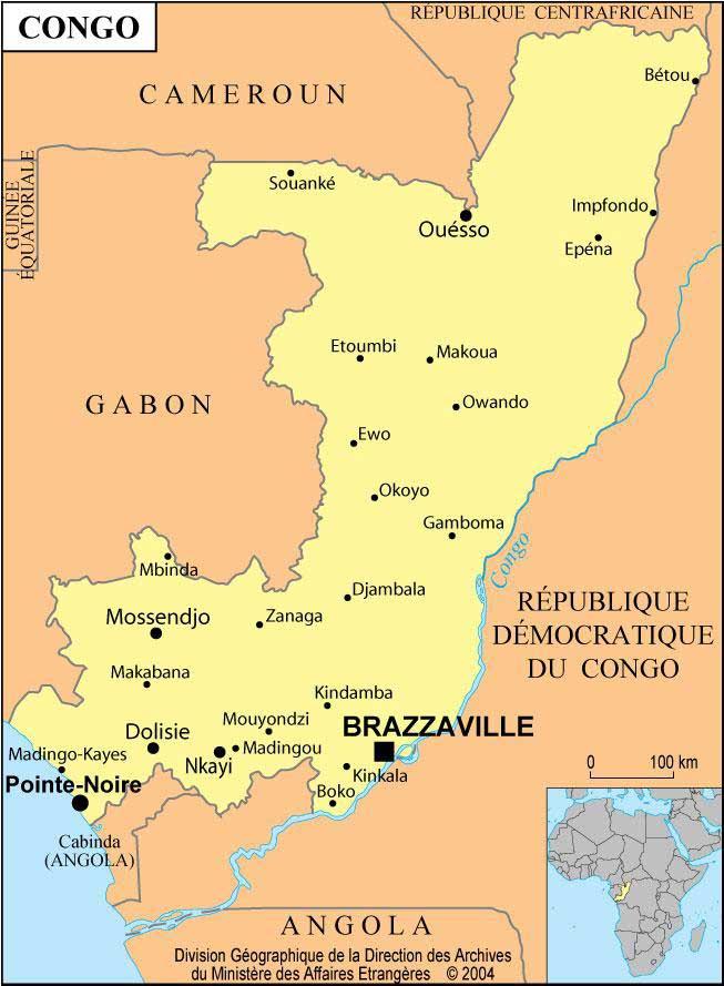 Carte Brazzaville - Congo