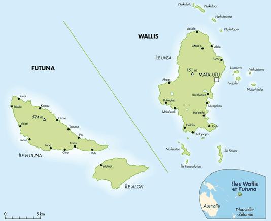 Wallis et Futuna - Carte
