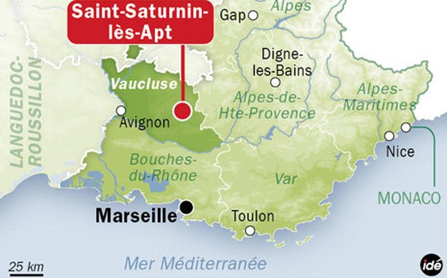 Saint Saturnin les Apt Carte