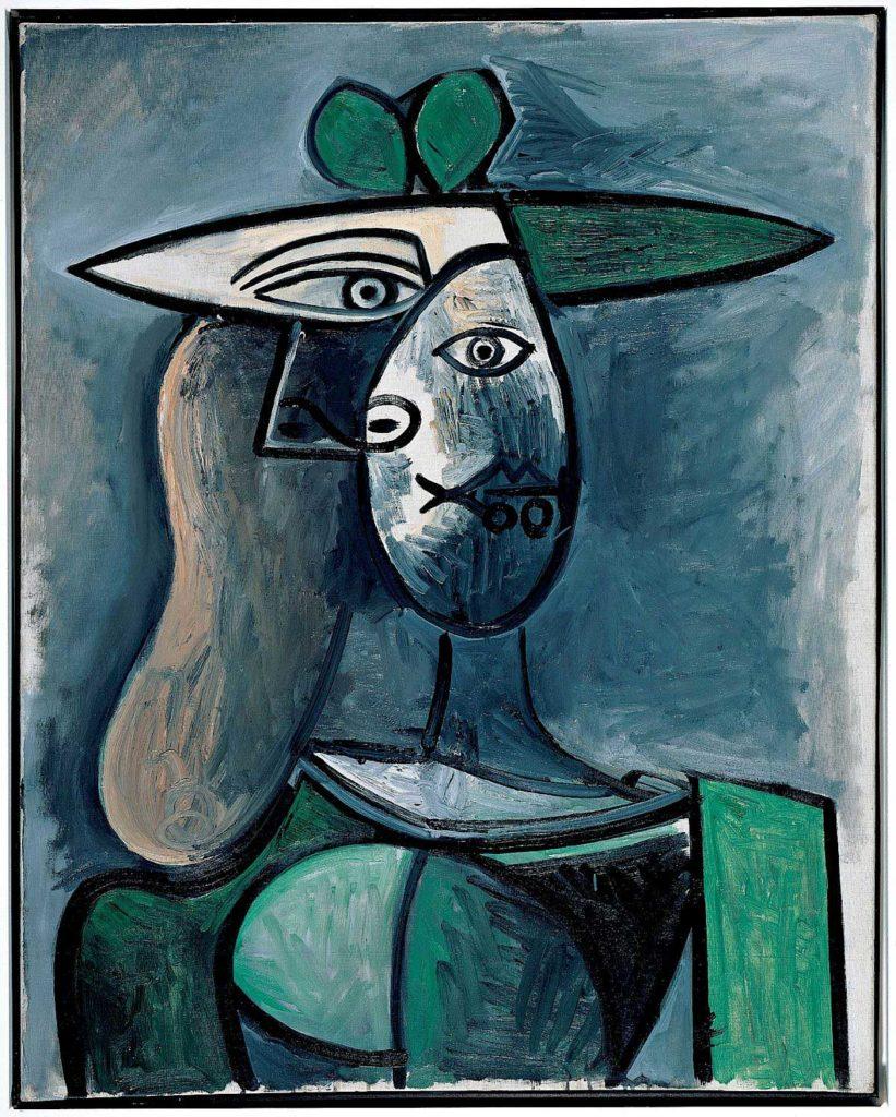 Pablo Picasso - La dame au chapeau vert