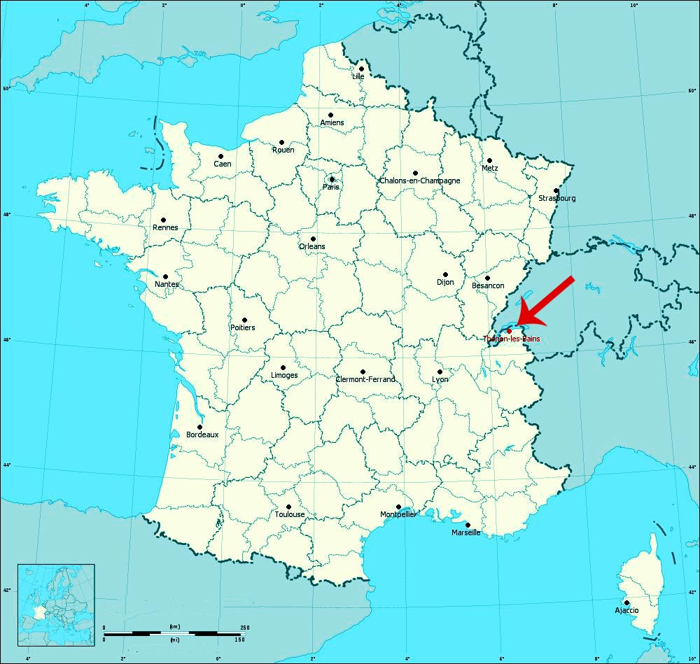 Carte - Thonon-les-Bains