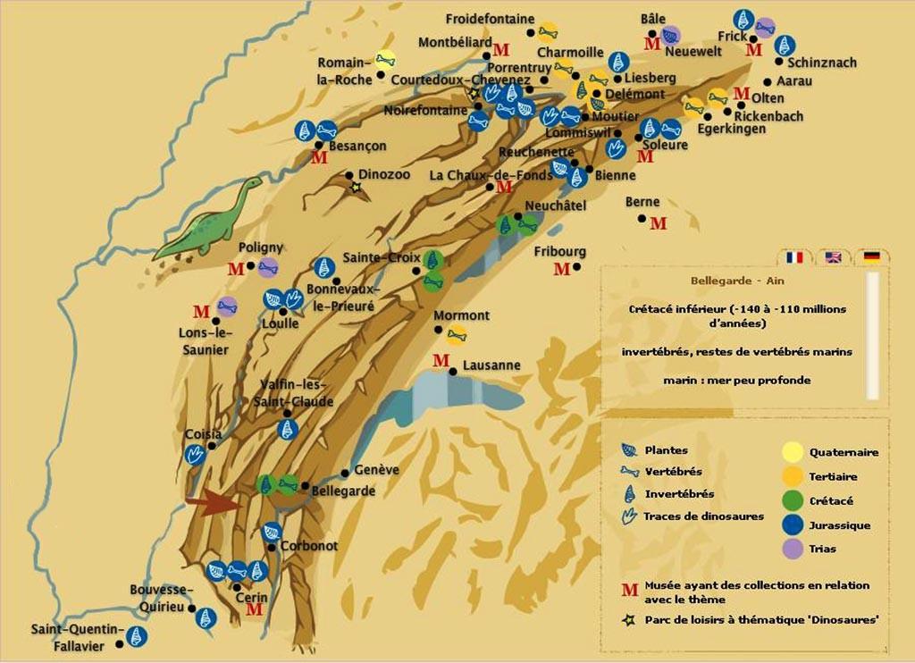 Massif du Jura - Carte
