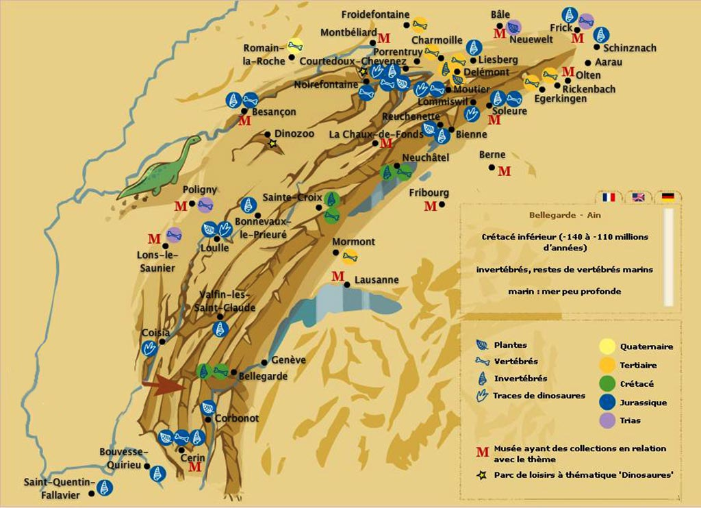 massif du jura carte Massif du Jura » Vacances   Arts  Guides Voyages